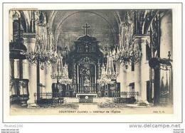 Carte De Courtenay Intérieur De L' église - Courtenay