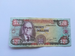 GIAMAICA 20 DOLLARS 1989 - Giamaica
