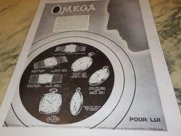 ANCIENNE PUBLICITE  POUR LUI  MONTRE OMEGA 1930 - Schmuck & Uhren