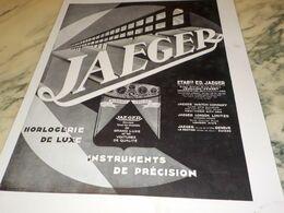 ANCIENNE PUBLICITE HORLOGERIE DE LUXE JAEGER 1930 - Schmuck & Uhren