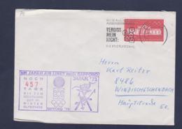 Germany Flightcover 1972 Sapporo Olympic Games - Frankfurt Am Main Noch 457 Tage Bis Zum Olympiade (G114-26) - Winter 1972: Sapporo