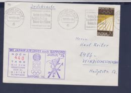 Germany Flightcover 1972 Sapporo Olympic Games - Frankfurt Am Main Noch 440 Tage Bis Zum Olympiade (G114-26) - Winter 1972: Sapporo