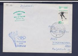 Germany Flightcover 1972 Sapporo Olympic Games - Frankfurt Am Main Noch 100 Tage Bis Zum Olympiade (G114-26) - Winter 1972: Sapporo
