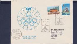 Finland Flightcover 1972 Sapporo Olympic Games - Helsinki SAS (G114-26) - Winter 1972: Sapporo