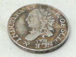 RÉPLICA Moneda 1792. ½ Disme. Estados Unidos De América. USA. Rara - Émissions Pré-Fédérales