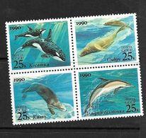 URSS 1990  DAUPHIN  YVERT  N°5791/94 NEUF MNH** - Dauphins