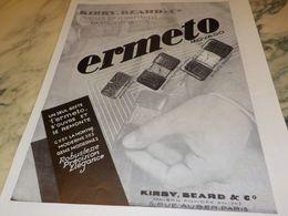 ANCIENNE PUBLICITE UN SEUL GESTE  MONTRE ERMETO 1930 - Andere