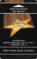 Hollywood Casino - Hotel Room Key Card - Grey/black Handle In Reverse Picture - Chiavi Elettroniche Di Alberghi