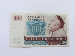 SVEZIA 100 KRONOR 1971 - Svezia