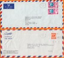 """NIGERIA   Lot De 7 Enveloppes Avec Entetes  PUB  """"Ambassade Et Conseiller De France """"  Années Mélangées - Nigeria (1961-...)"""