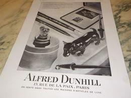 ANCIENNE PUBLICITE PORTE PLUME ALFRED DUNHILL 1930 - Manifesti