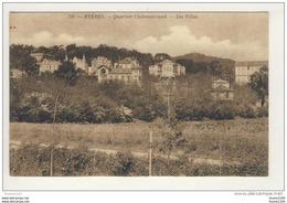 Carte De Hyères Les Palmiers Quartier Chateaubriand Les Villas   ( Recto Verso ) - Hyeres
