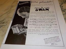 ANCIENNE PUBLICITE SAVOIR FAIRE PLAISIR  PORTE PLUME  SWAN 1930 - Autres Collections