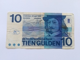 PAESI BASSI 10 GULDEN 1968 - [2] 1815-… : Regno Dei Paesi Bassi