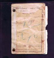 Livret Militaire Service De Santé Campagne Allemagne 39/40 - 1939-45