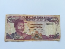 SWAZILAND 20 EMALANGENI 2001 - Swaziland