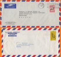 AFRIQUE DU SUD Lot De 7 Enveloppes   Années Mélangées Dont Certaines Avec Entetes PUB - Sud Africa (1961-...)