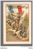 Chromo Chocolat  Louit   Au Dos Illustration De L' Usine   ( Recto Verso ) - Louit