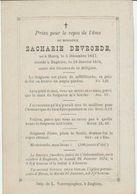 BP Devroede Zacharie (Marcq 1817 - Enghien 1874) - Alte Papiere