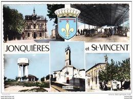 Carte  ( Format 15 X 10,5 Cm ) De Jonquières Et Saint Vincent   ( Recto Verso ) - Otros Municipios