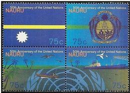 Nauro: 50° Anniversario ONU, 50e Anniversaire De L'ONU, 50th Anniversary Of The UN - UNO
