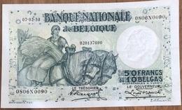50 Francs Anto - Carte 07/02/1930 A/unc-!! Moeilijke Datum!! Stacquet - Franck!! 0090 - 50 Francs-10 Belgas