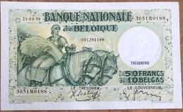 50 Francs Anto - Carte 21/04/1938 A/unc! Zeer Mooi Biljet!! Sontag - Janssen! 0188 - 50 Francs-10 Belgas