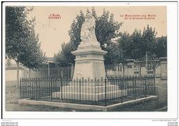 Carte De Bizanet  Le Monument Aux Morts   ( Recto Verso ) - Otros Municipios