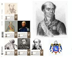 Ukraine 2019, Napoleon Bonaparte Marshal Catherine-Dominique Pérignon Sheetlet Of 6v - Ucrania