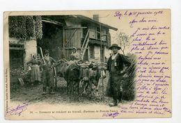 CPA: 01- BRESSANS SE RENDANT AU TRAVAIL (ENVIRONS DE PONT-DE-VAUX) - - Pont-de-Vaux