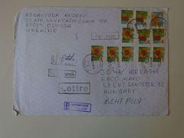 DI.12.2  UKRAINE  REGISTERED INSURED Letter  COVER  Sent From ODESSA To MAKO Hungary Ca 2000 - Ucrania