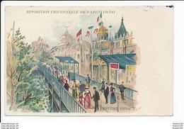 Carte Litho Exposition Universelle De 1900   Paris ( Dessin ) Trottoir Roulant - Expositions