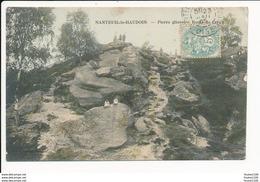 Carte De NANTEUIL LE HAUDOUIN   Pierre Glissoire Route De Crépy ( Colorisée )  ( Recto Verso ) - Nanteuil-le-Haudouin