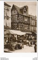 Carte De La Rochelle  Vieille Maison  Place Du Marché ( Recto Verso ) - La Rochelle