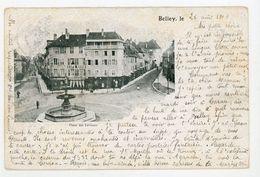 CPA: 01- BELLEY - PLACE DES TERREAUX - - Belley