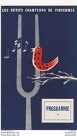 Programme Les Petits Chanteurs De Vincennes 1953 Concert Donné Au Bénéfice Des Sinistrés De Hollande - Programmi