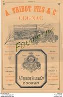 Distillerie Eaux De Vie Fine Champagne COGNAC A Tribot Fils & Cie  COGNAC LA PLANTE Raynal JARNAC Châteu Du Grollet Yvon - Publicités