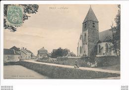 Carte  De TILLY église ( Recto Verso ) - Autres Communes
