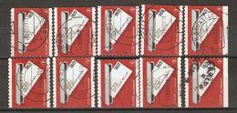 Belgique 2006 - Lettre Dans La Boîte - Petit Lot De 10 Timbres° De Carnet  C 64 - 4 Différents - Postzegelboekjes 1953-....