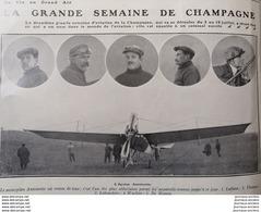 1910 UN AN D'AVIATION - BETHENY - ÉQUIPES FARMAN = SOMMER = VOISIN = BLERIOT = NIEUPORT - ROUEN - Boeken, Tijdschriften, Stripverhalen