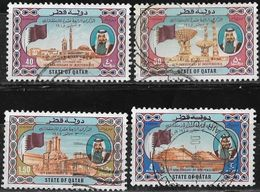 1985 QATAR 14th Anniversary Independence Day Complete Set 4 Values Fine Used - Qatar