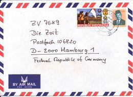 Indonesia Air Mail Cover Sent To Germany 1986 With SCOUT Stamp - Indonesië