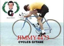 CPM - Bernard HINAULT - CYCLES GITANE - Palmarès Au Dos - Edit. Leroy Hamel Conseil Nantes - Scans Recto-Verso - Cycling