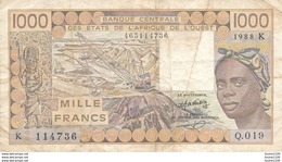 Billet De Banque Afrique De L' Ouest 1000 Francs - Westafrikanischer Staaten