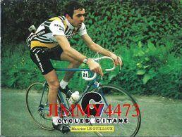 CPM - Maurice LE GUILLOUX - CYCLES GITANE - Palmarès Au Dos - Edit. Leroy Hamel Conseil Nantes - Recto-Verso - Cycling
