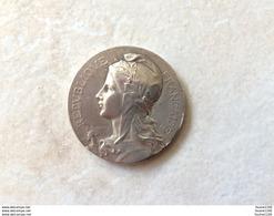 Médaille En Bronze ( Couleur Argent ) Signé F. Rasumny CHABRILLAT Union Des Syndicats De L' Alimentation En Gros 1922 - Autres