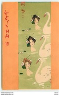 N°13321 - Kirchner - Geisha IV - Jeunes Femmes Se Baignant Avec Des Cygnes - Kirchner, Raphael