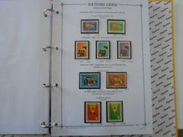 NATIONS-UNIES SIEGE DE NEW-YORK YT 91/99 Vente Par Page D'album (timbres Seuls)** - New York – UN Headquarters