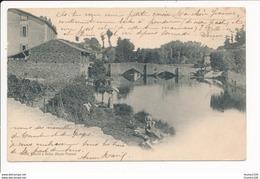 Carte De  BELLAC  Pont De La Pierre ( Lavandière ) - Bellac