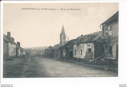 Carte De Pierrepont Sur Avre  Route De Montdidier - Other Municipalities